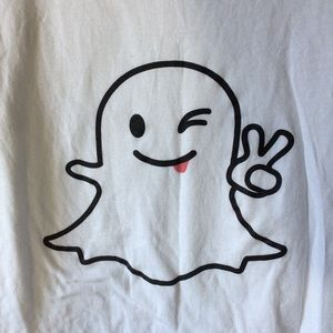 American Apparel Tops - 🎃 American Apparel Snapchat Ghost Peace ☮️ ✌️